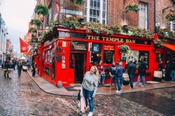 View of The Temple Bar in Dublin