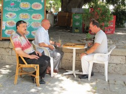 Locals like to play Chess and Draughts in Kos
