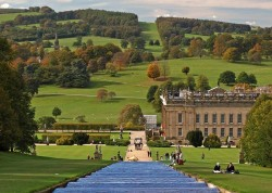 Chatsworth House and Gardens in Estate in Derbyshire